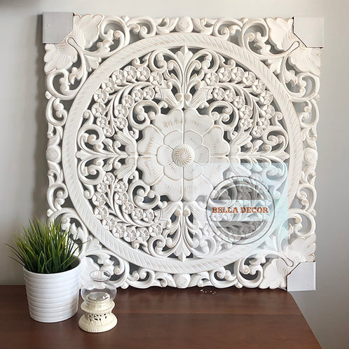 Carved WhiteWash Panel