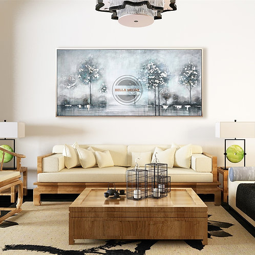 Landscape Handmade Oil Painting- Canvas Framed Wall Art