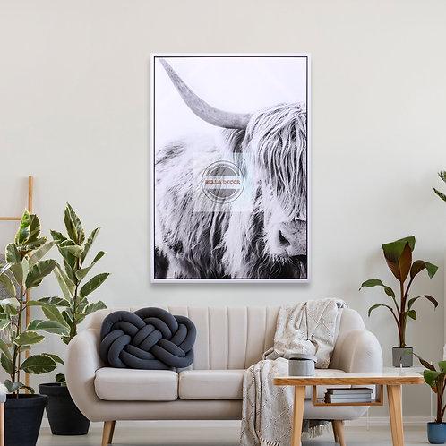 Strong Bull Framed Canvas Wall Art