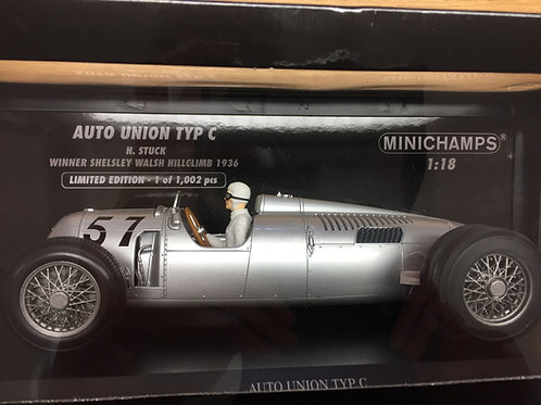 Minichamps 1:18th Scale Auto Union - Hans Stuck Limited Edition