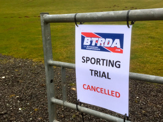BTRDA Sporting Trial Cancelled