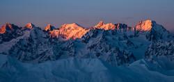 Sunrise over the Swiss Alps