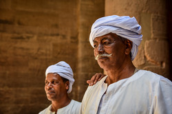 Nubian Guards at Philae Temple Egypt