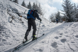 Ski touring for Everest in the Alps