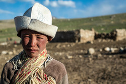 A young Kyrgyz boy from Afghanistan