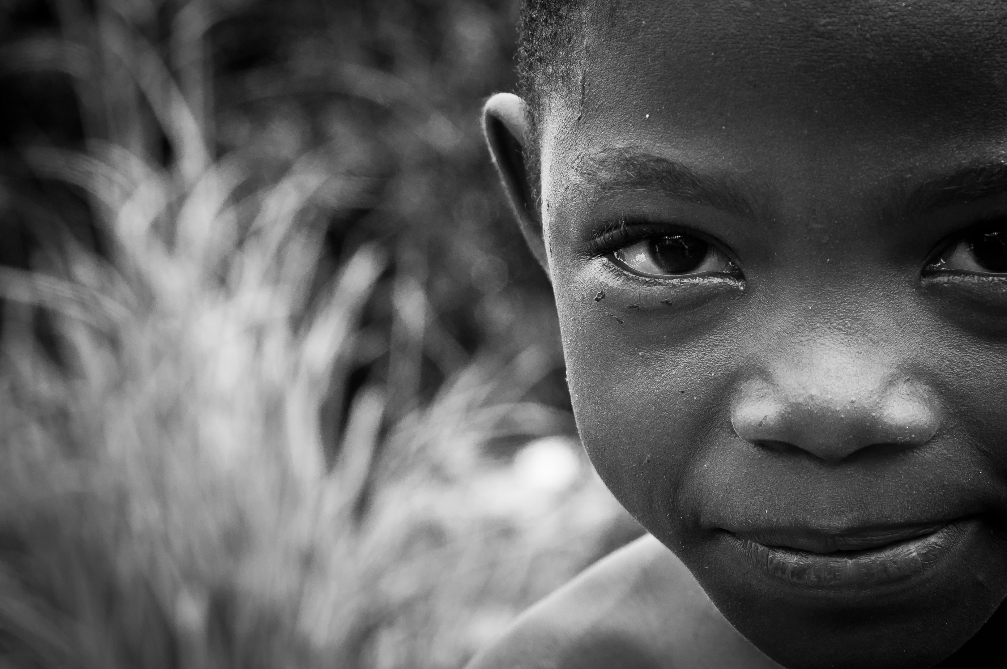 Young boy in Chitimba Beach Village Malawi