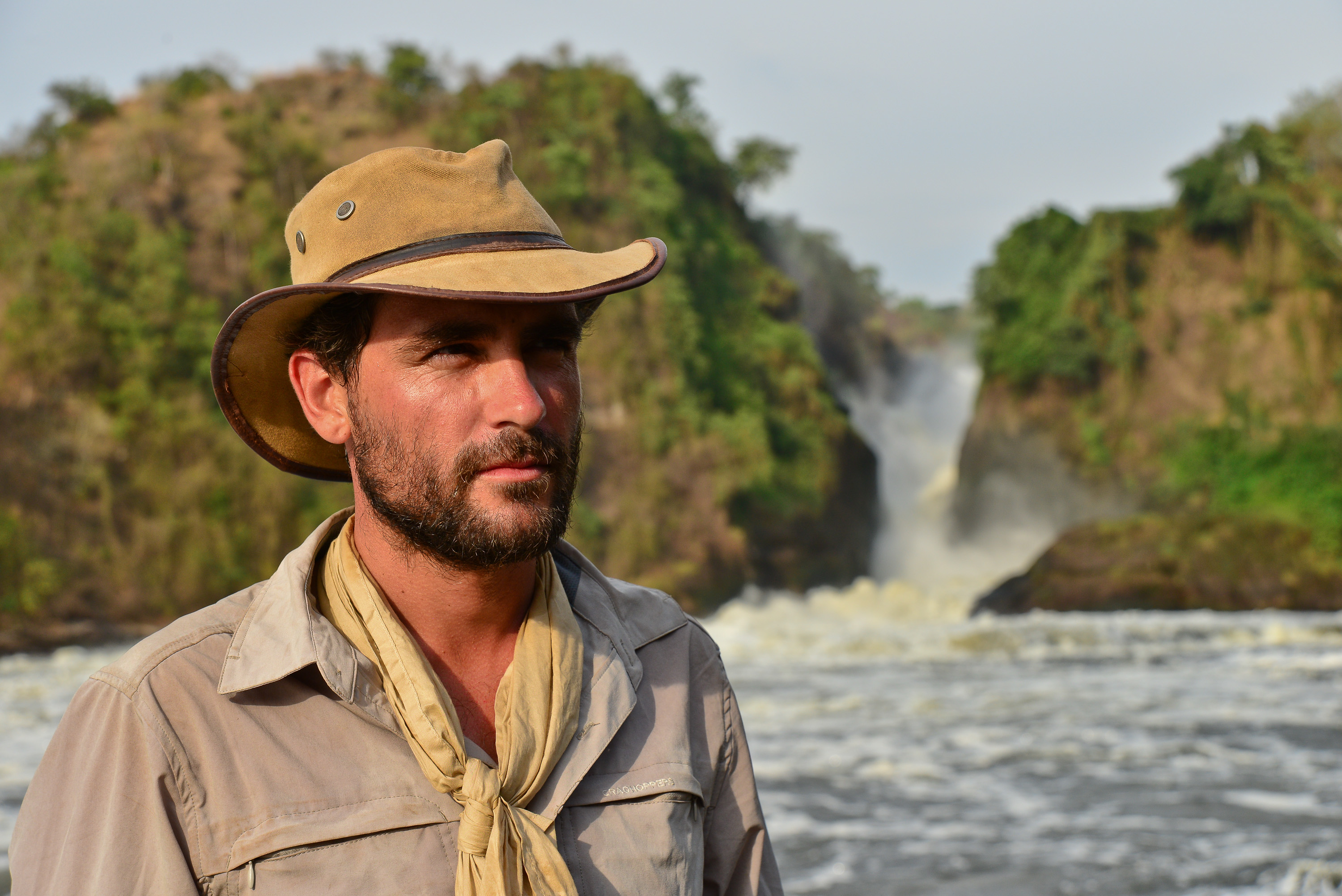 Lev Wood at Murchison Falls, Uganda
