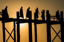 Sunset over the U Bein Bridge, Burma