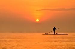 A fisherman on Lake Victoria