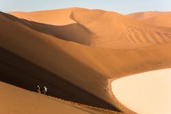 Climbing Big Daddy dune, Sossusvlei