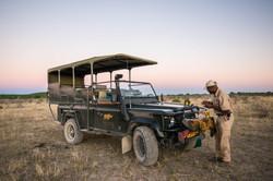 Sundowner in the Ongava Game Reserve
