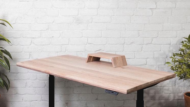 ''THE WHITE MIST MINI STAND'' solid oak monitor stand