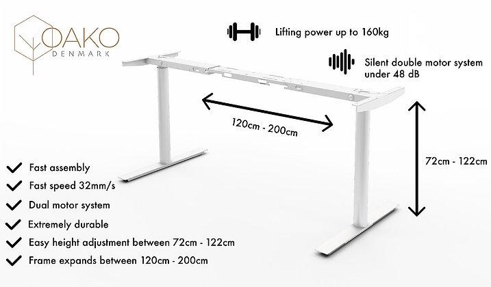 OAKO's height adjustable desk frame