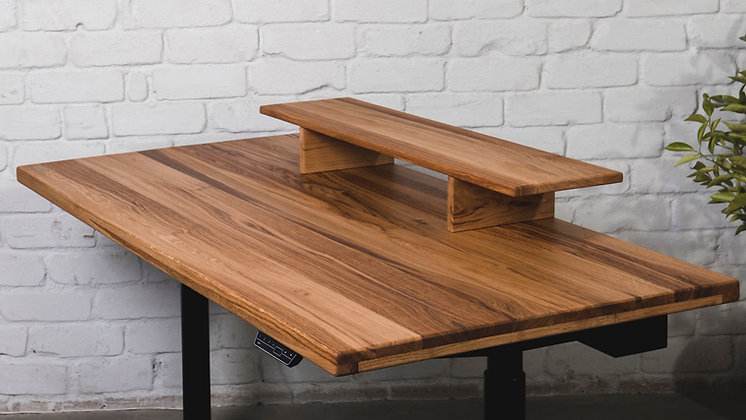 ''THE GOLDEN CRUST LARGE STAND'' solid oak monitor stand