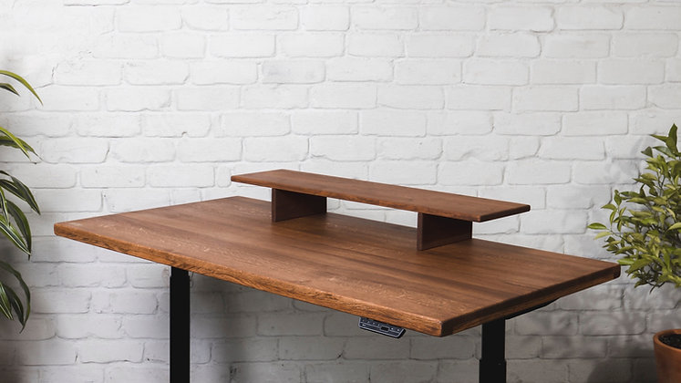 ''THE MAHOGANY LARGE STAND'' solid oak monitor stand