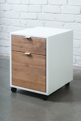 ''WHITE MIST CABIO IN WHITE'' solid oak cabinet