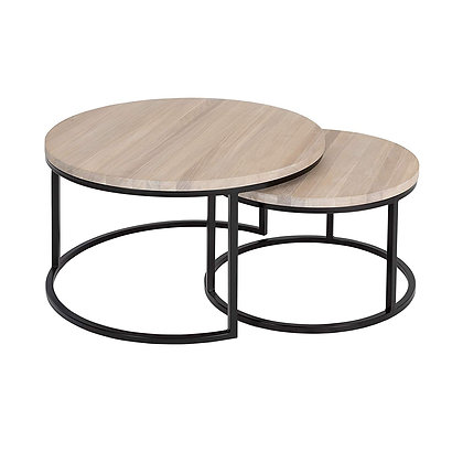 Creamy Turto Coffee Table from Solid OAK