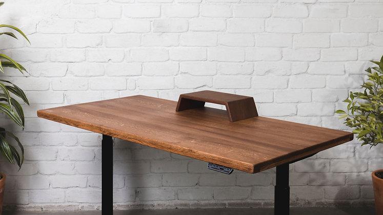 ''THE MAHOGANY MINI STAND''         solid oak monitor stand