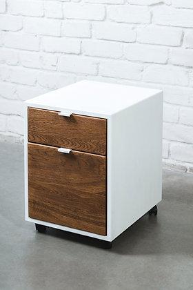 ''MAHOGANY CABIO IN WHITE'' solid oak cabinet