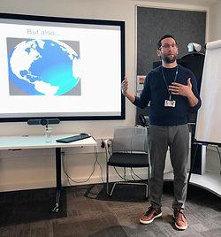 Judah Koller, lecture at British Embassy, Tel Aviv