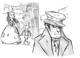 Oliver Twist. Click to see more B & W work with Hatching