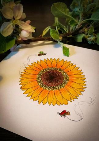 Sonnenblumen Portrait für Lori von Lÿdia Schulz