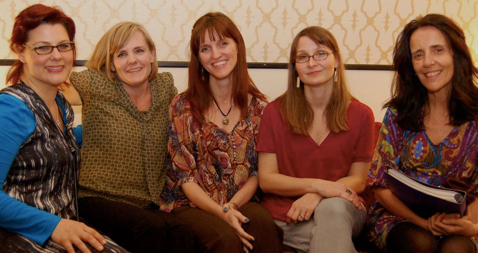 2010 with Arlaina Tibensky, Myfanwy Collins, Eleanor Henderson, and Suzzy Roche