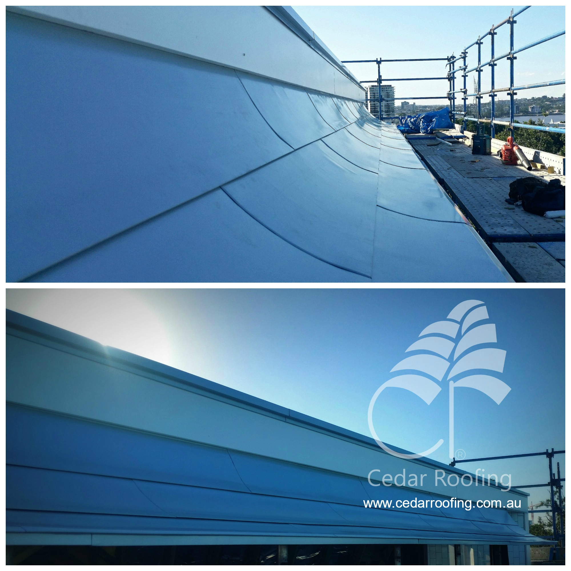 Curved Metal Awning Roof