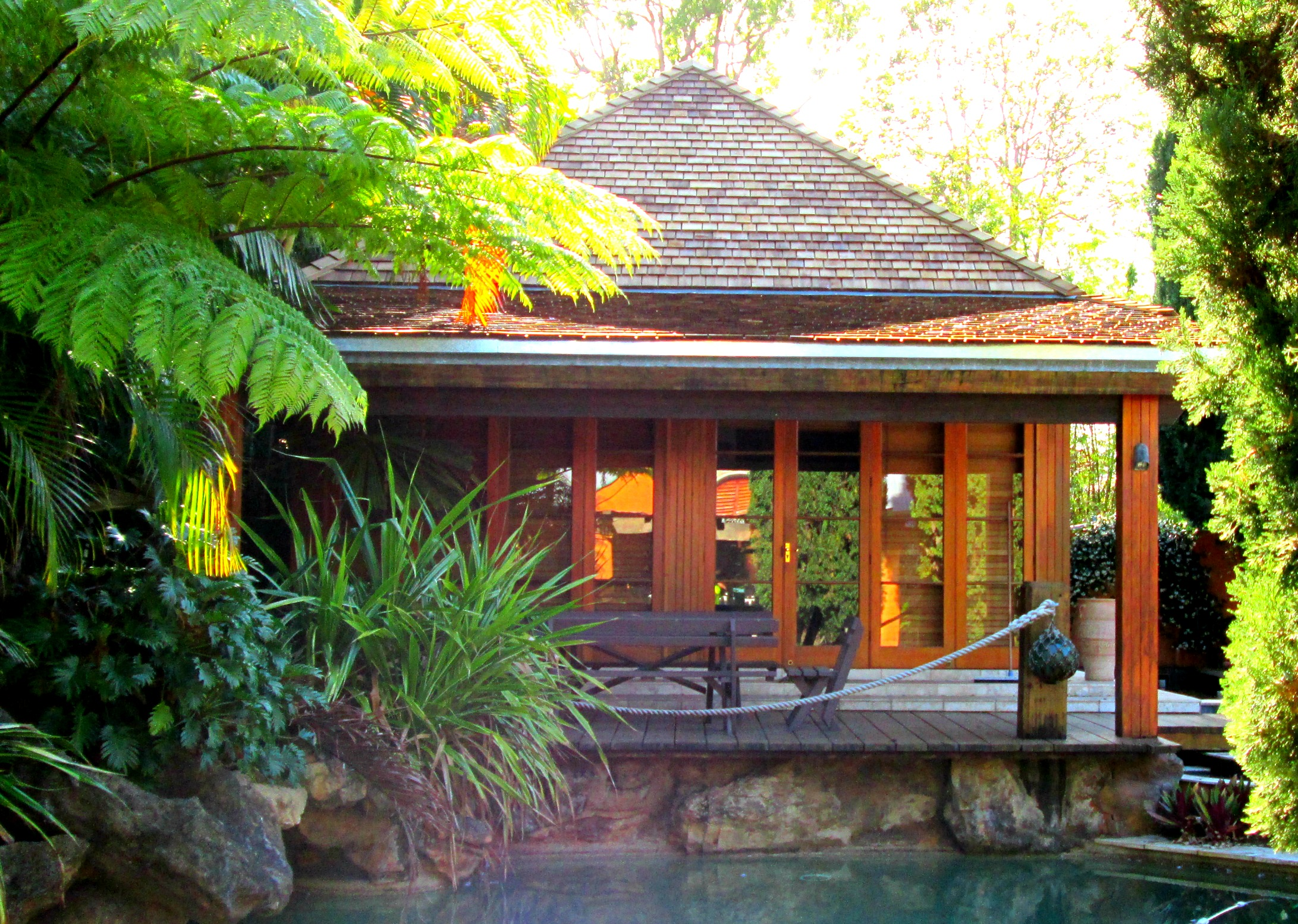 Cedar Roofing Brisbane Pool House