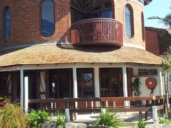 Cedar Roofing curved verandah