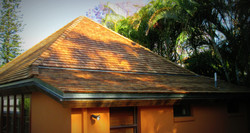Cedar Roofing Shakes - Pool House