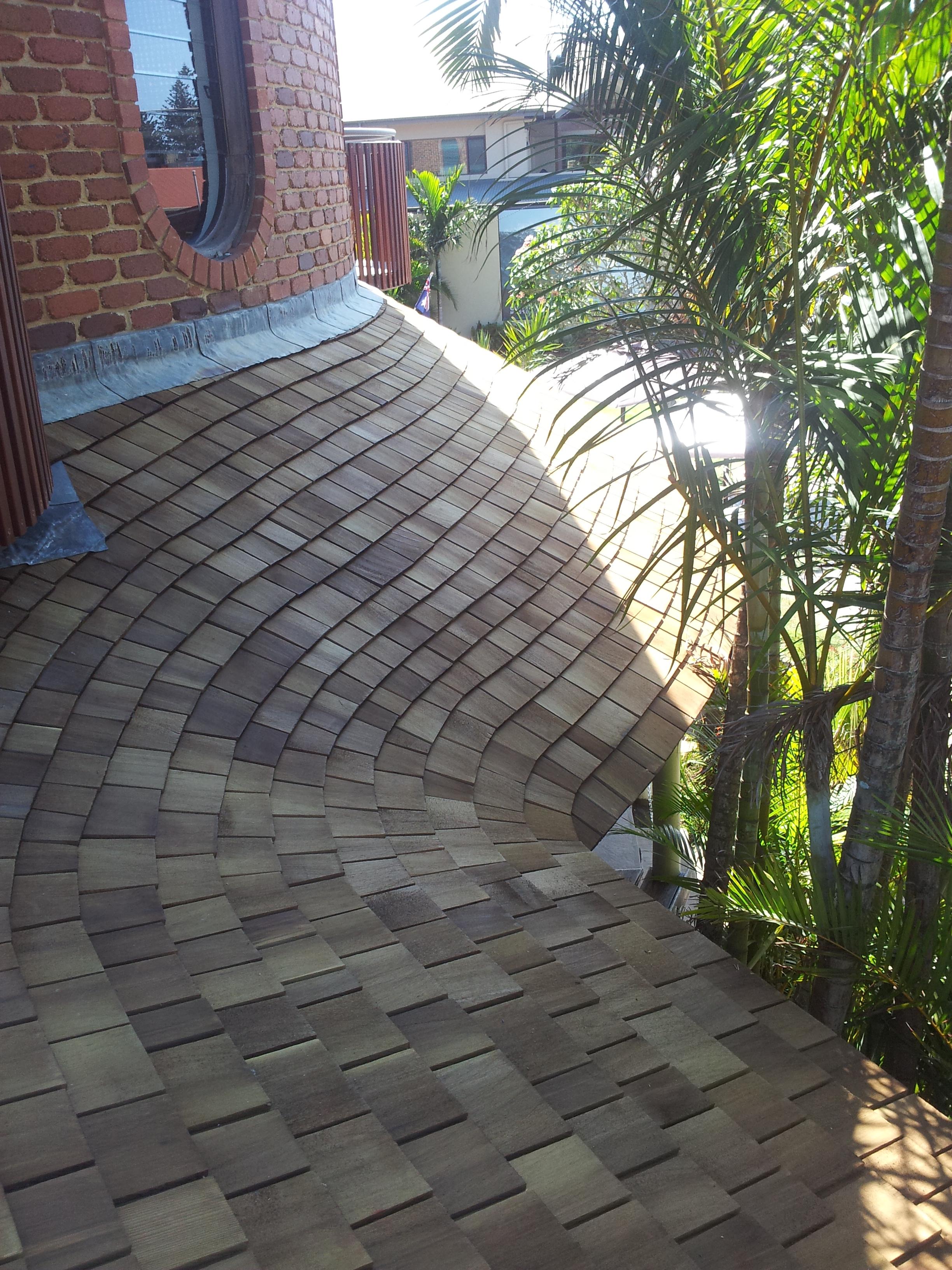 Curvy-licious Cedar Roofing