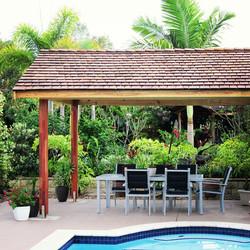 Cedar Roofing Pool Cabana - Shakes