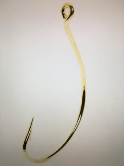Mustad Wide Gap Gold Fishing Hooks 10 pk. nice chunky bait hook rig weedless