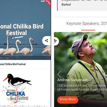 INVITATION TO NATIONAL CHILIKA BIRD FESTIVAL, ADISHA, INDIA