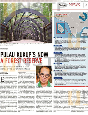 NST: PULAU KUKUP'S NOW A FOREST RESERVE