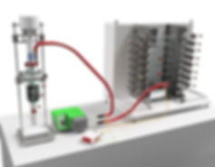 C-Core Heated Transfer Line and Link Line example of typical use between a jacketed vessel and a reactor