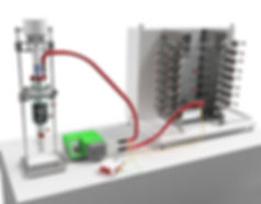 C-ore Hated Transfer Line and LInk Line in typical use between  jacketed vessel and a reactorr