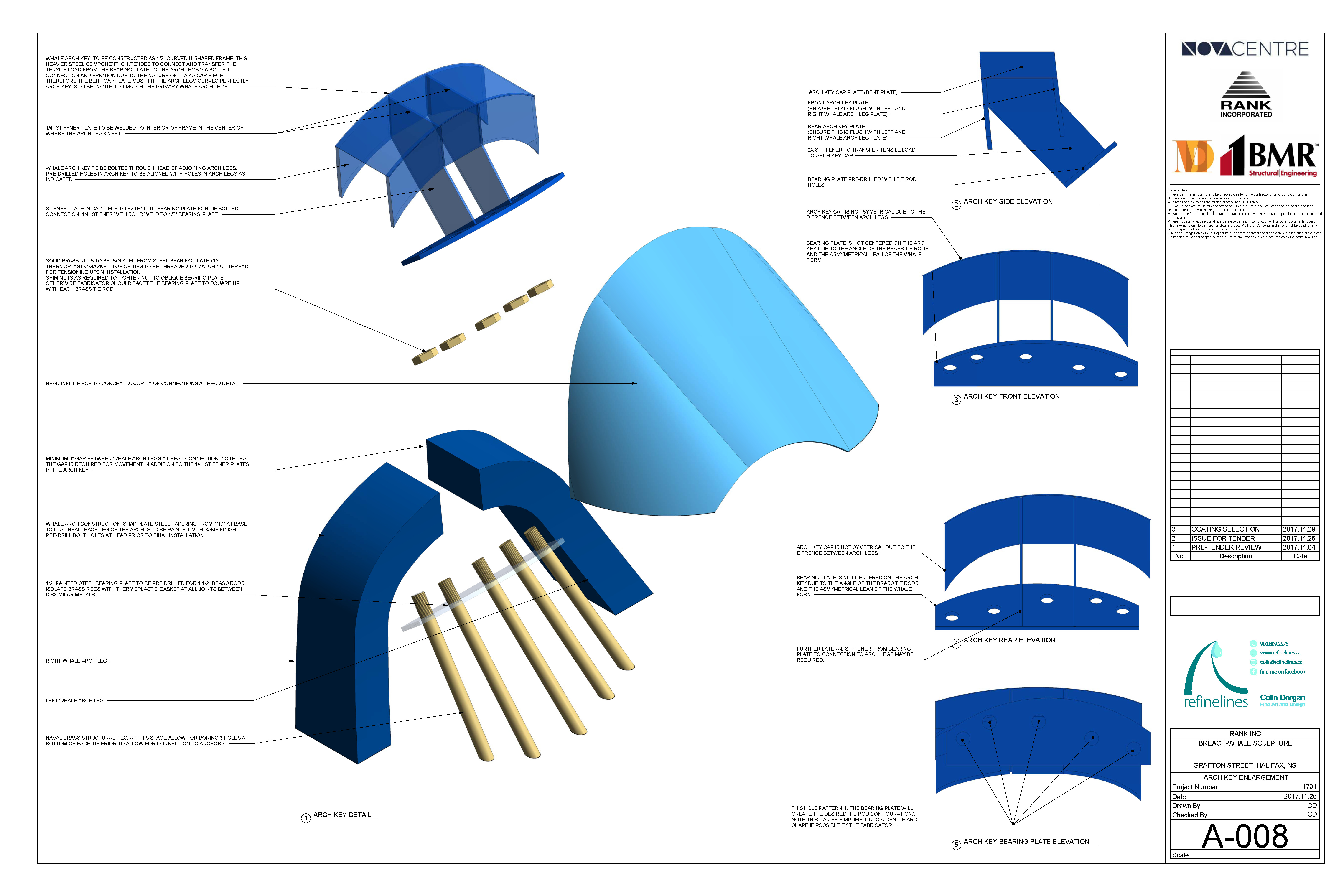 Whale Issue for Tender - Sheet - A-008 - ARCH KEY ENLARGEMENT