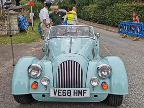 Ruth's first ride in a Morgan