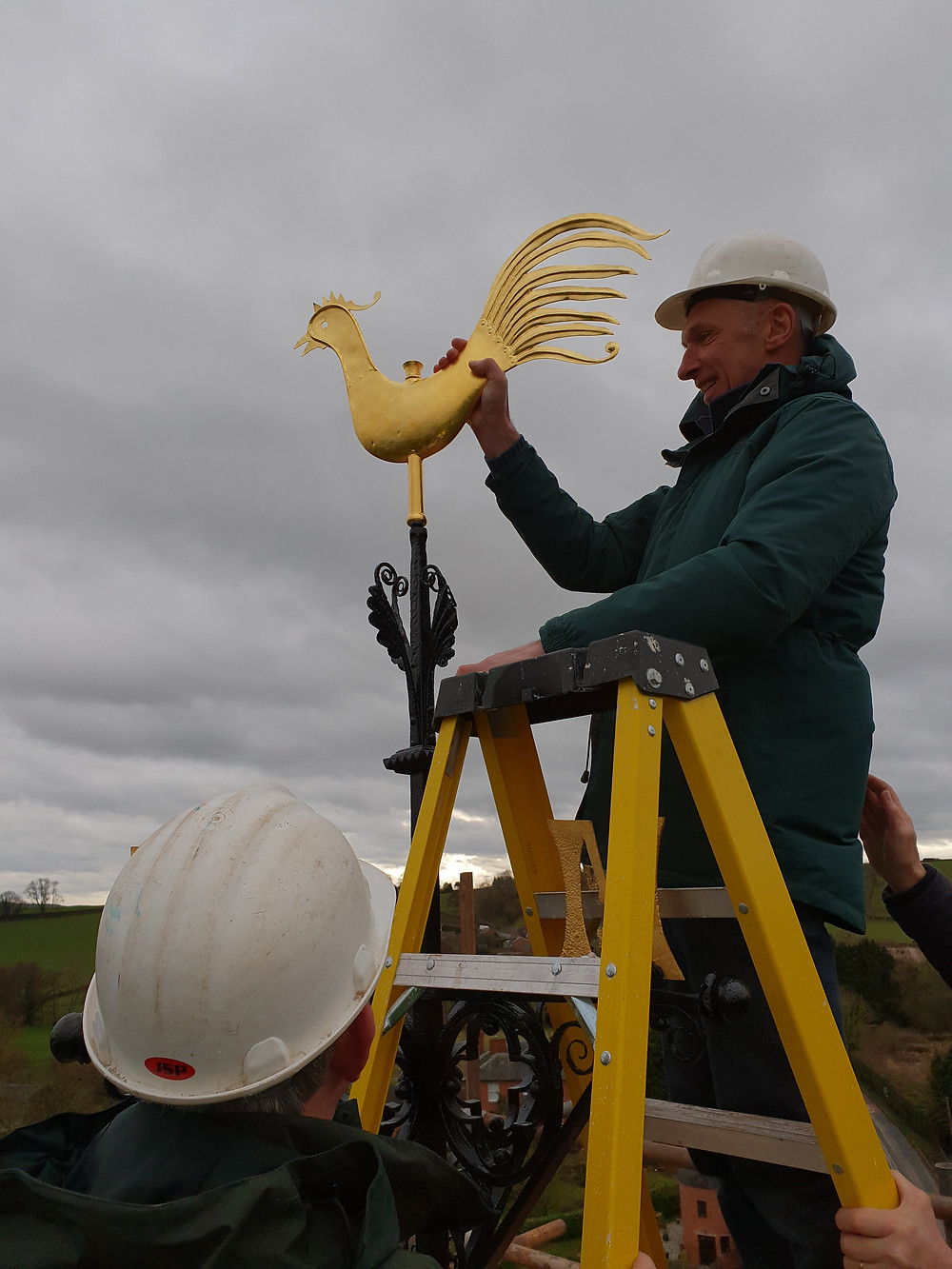 Weathervane refurbishment Stoke Lacy church renovation