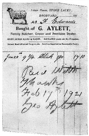 G Aylett Butcher receipt.jpg