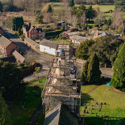 Stoke Lacy church from the air