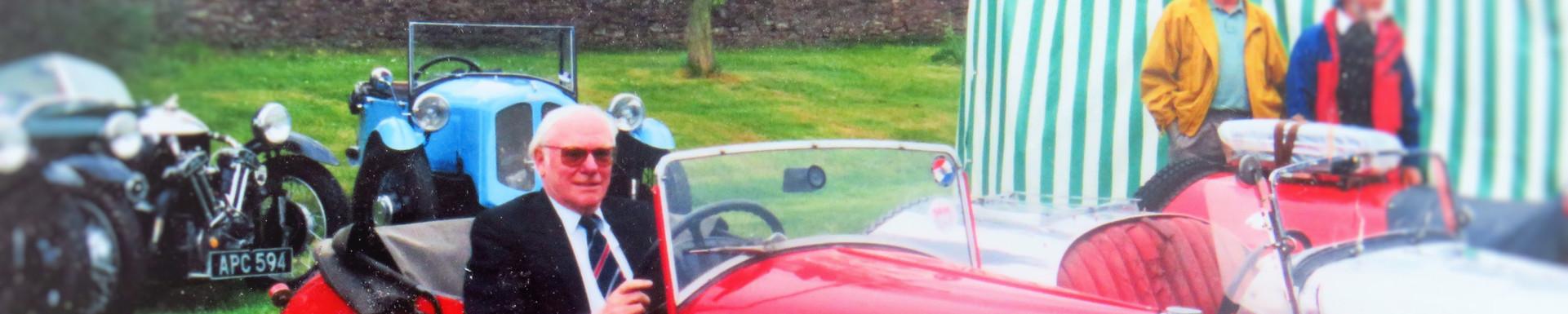 Peter morgan at the 75th 3-wheeler meet at Stoke Lacy