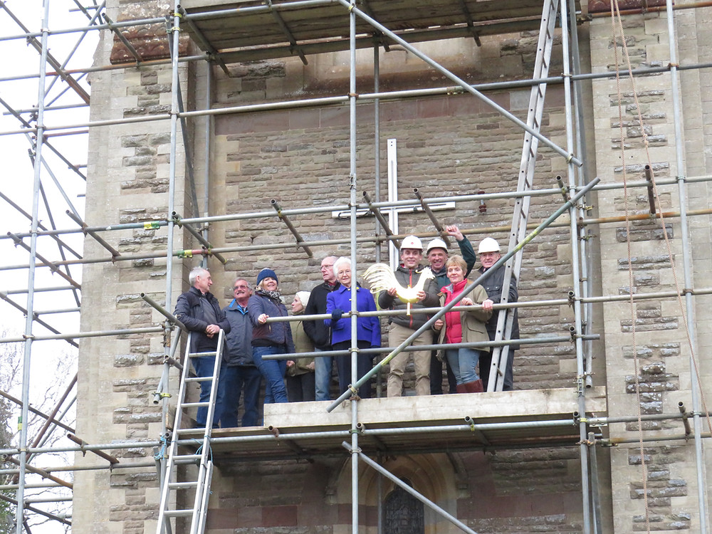 Stoke Lacy PCC up the church tower