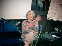 Betty at oral histor training Stoke Lacy Church