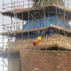 New shingles Stoke Lacy church