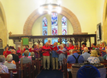 Hot! Hot! Hot! The Hereford Fire Choir raise the roof!