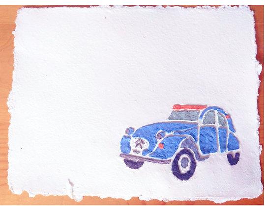 Blue  2 CV (Citroën Deux Cheveux)