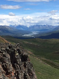 Denali National Park hiking tours. Yanert Valley glacier valley Denali, Alaska